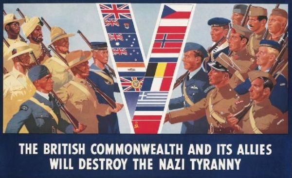 Plakat propagandowy z okresu II wojnyświatowej (fot. domena publiczna).