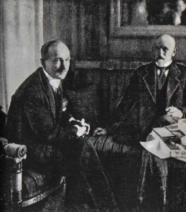 Prezydent Czechosłowacji Edvard Beneš z wizytą u prezydenta Polski, Stanisława Wojciechowskiego w 1925 roku.