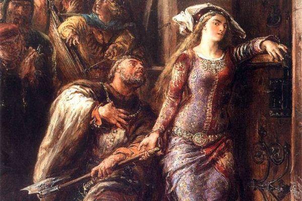 Według historii powtórzonej przez Jana Długosza, Jadwiga była gotowa choćby rozbić siekierą bramę Wawelu, byle dopuścić Wilhelma do swojego łoża. Ten akt oddana w przyszłości nie przeszkadzał austriackiemu księciu niszczyć jej renomy i zatruwać życia.