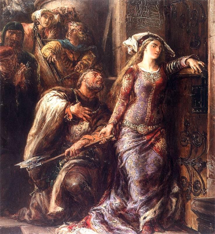 Według historii powtórzonej przez Jana Długosza, Jadwiga była gotowa choćby rozbić siekierą bramę Wawelu, byle dopuścić Wilhelma do swojego łoża. Ten akt oddania w przyszłości nie przeszkadzał austriackiemu księciu niszczyć jej renomy i zatruwać życia.