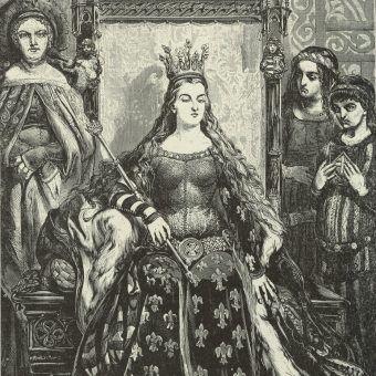 Królowa Jadwiga. Rysunek Jana Matejki na podstawie pieczęci monarchini.