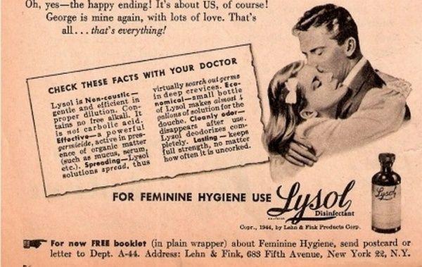 W dobie wielkiego kryzysu lizol był najpopularniejszym i najszerzej promowanym preparatem przeciwciążowym w USA. To właśnie stamtąd trafił on nad Wisłę.