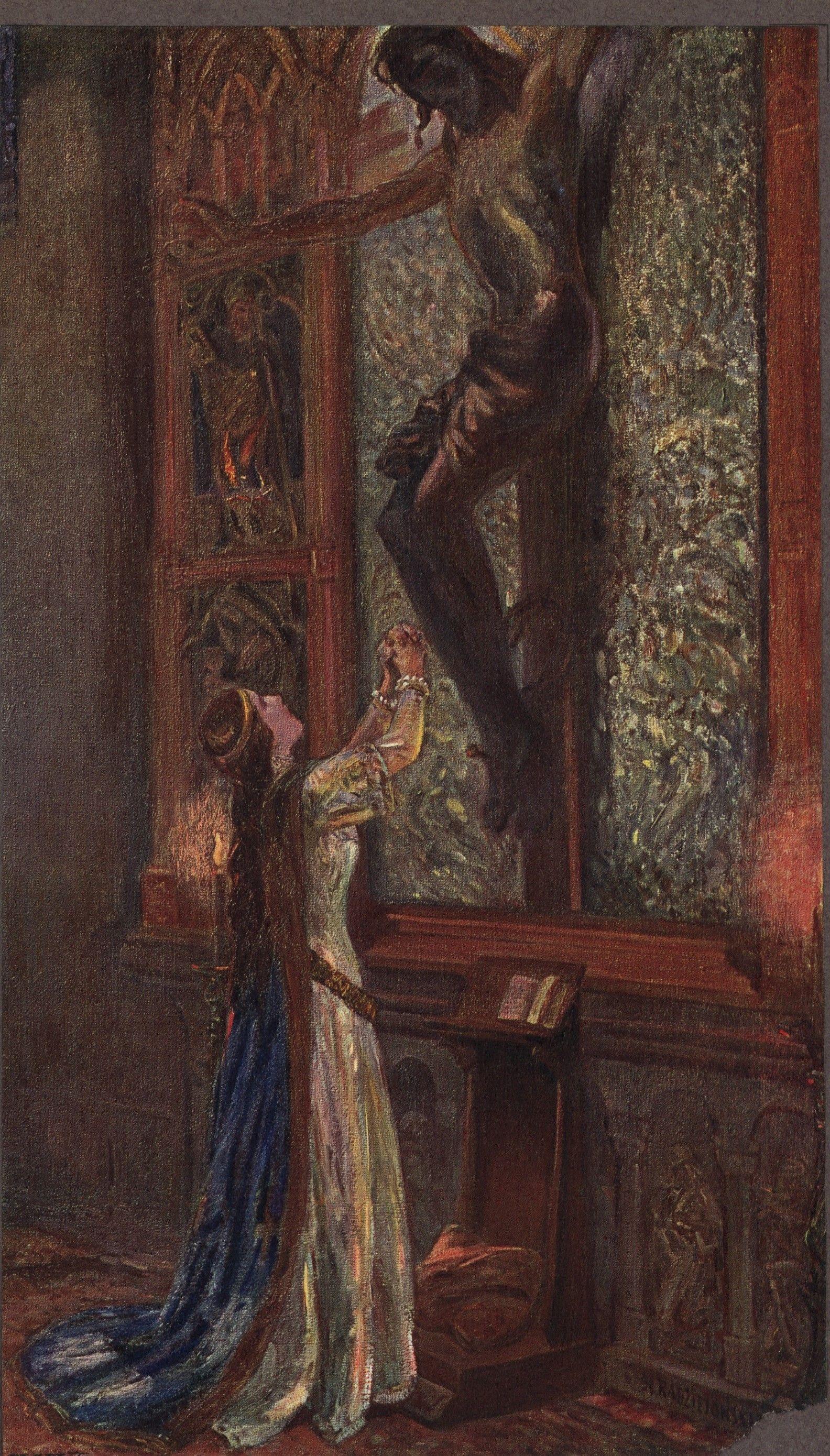 Królowa Jadwiga zgodziła się na zerwanie związku z Wilhelmem Habsburgiem dopiero po długim namyśle i gorliwych modlitwach. Austriacki książę potraktował ją jednak tak, jakby było rozwydrzoną lolitą.