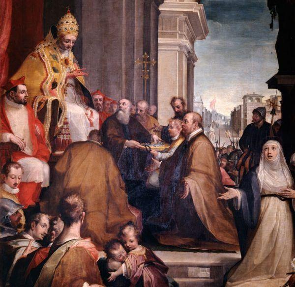 Urban VI na obrazie Allessandro Casolaniego. Schyłek XVI stulecia.