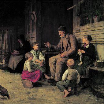 """Czy zdobycie pełnej wiedzy historycznej jest możliwe? Jak pokazują nasi czytelnicy, zawsze można jeszcze coś powiedzieć, coś dodać. Na ilustracji obraz Alberta Ankera """"Opowiadania dziadka""""."""