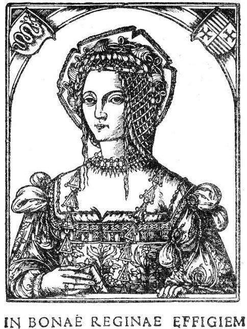 Bona Sforza na drzeworycie z 1521 roku