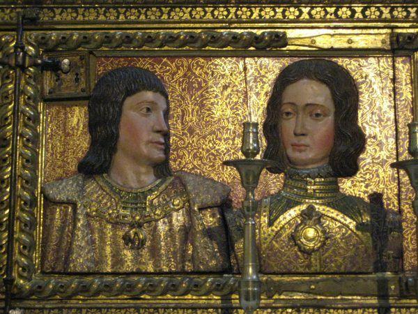 Filip Habsburg i jego żona Joanna, która dzięki serii zgonów stała się największą dziedziczką w historii. Płaskorzeźba z 1632 roku, znajdująca się w Kaplicy Królewskiej w Granadzie.