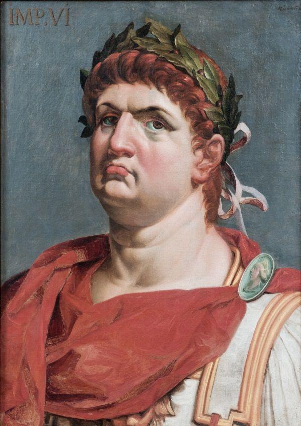 Cesarz Neron z jasną skórą i wyróżowanymi policzkami. (fot. domena publiczna)