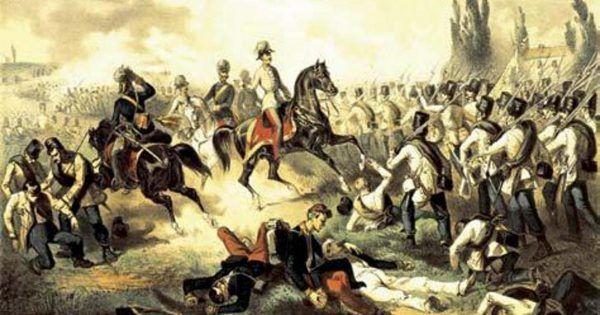 Franciszek Józef I na czele swych wojsk podczas bitwy pod Solferino w 1859 roku. Klęski wojskowe doprowadziły do tego, że młody władca postanowił przeformułować wewnętrzną strukturę państwa. Z korzyścią między innymi dla Polaków.