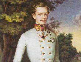 Młody Franciszek Józef I z porcelanowej miniatury z 1854 roku.