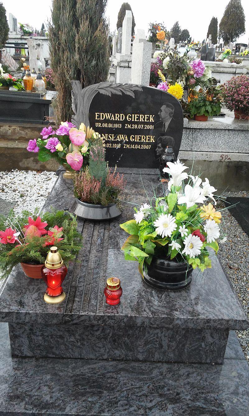 Grób Edwarda i Stanisławy Gierek na cmentarzu w Sosnowcu-Środuli. Były I sekretarz KC PZPR zmarł w wieku 88 lat.