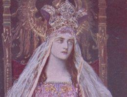 Jadwiga Andegaweńska na obrazie Józefa Męciny-Krzesza. Początek XX wieku