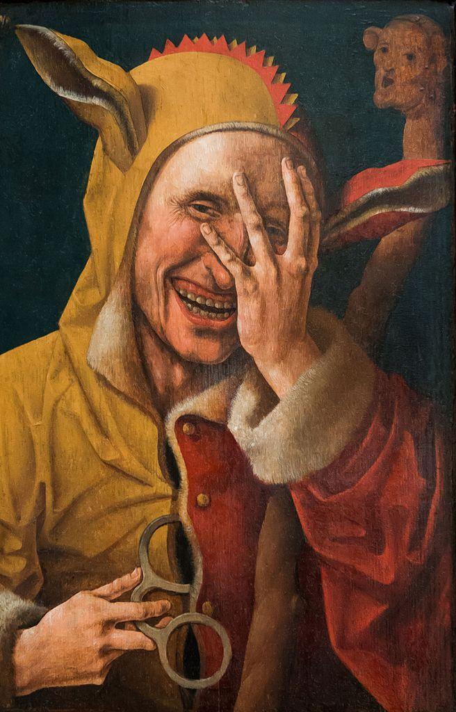 """A może """"śmiechnięcie"""" wygląda tak jak na XVI-wiecznym obrazie Jacoba Cornelisza van Oostsanena? Patrząc na twarz tego """"Śmiejącego się głupca"""", aż trudno samemu powstrzymać się od uśmiechu."""