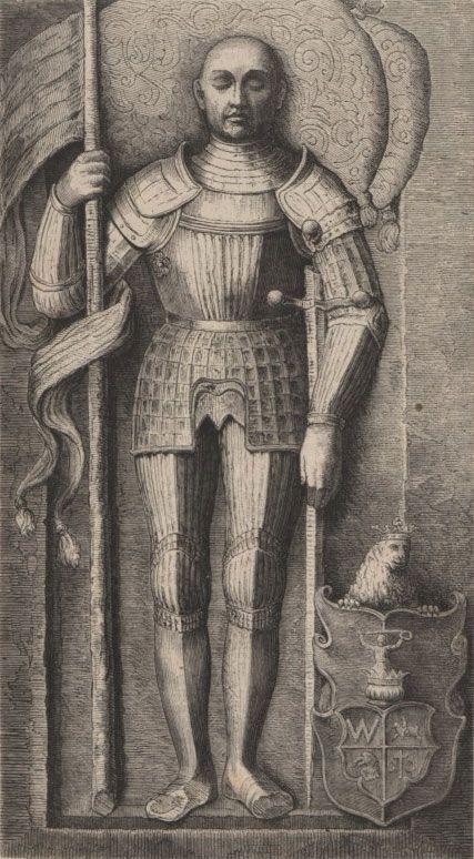 Podobizna Olbrachta Gasztołda rysowana według jego nagrobka
