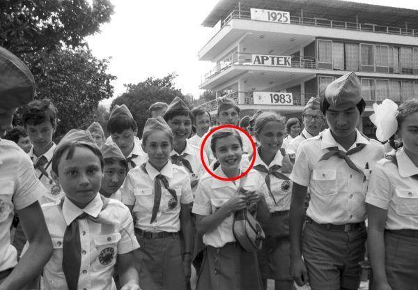 Samantha Smith podczas wizyty w ZSRR w 1983 roku na obozie pionierskim Artek.