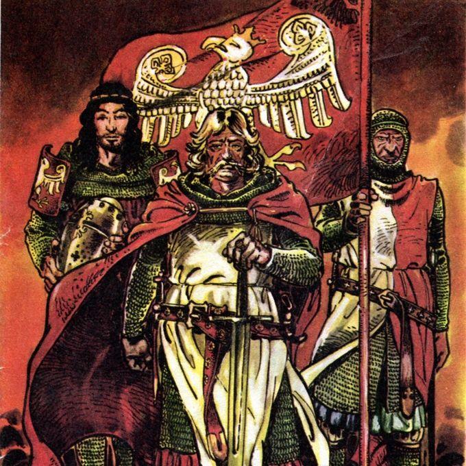 Władysław Łokietek na rysunku Marka Szyszki. Ilustracja publikowana za zgodą autora