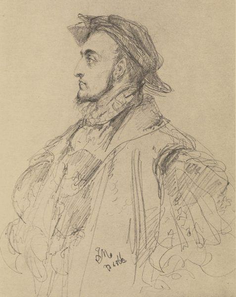 Zygmunt August na szkicu Jana Matejki