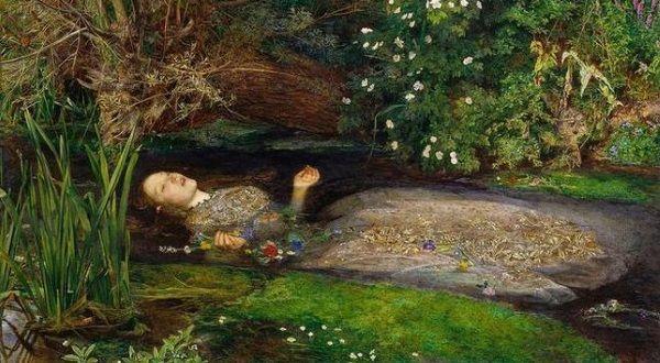 Tak Elizabeth Siddal jako Ofelię namalował John Everett Millais (fot. domena publiczna).