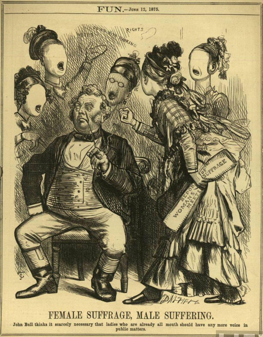 W XXI wieku kobiety jak widać tylko teoretycznie nie muszą już walczyć o szacunek. Jeden z naszych komentatorów z pewnością chętnie podpisałby się pod tą XIX-wieczną angielską satyrą na sufrażystki...