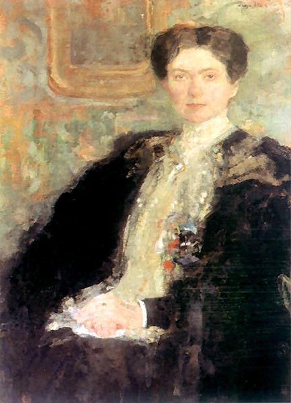 Zofia Kirkor-Kiedroniowa na portrecie pędzla Olgi Bozańskiej (fot. domena publiczna).
