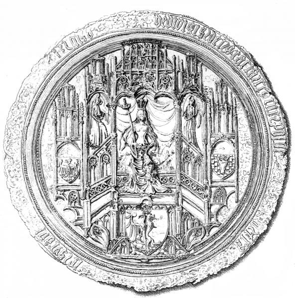 Pieczęć majestatyczna królowej Jadwigi.