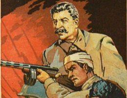 Wydać rozkaz wymordowania tysięcy ludzi? Stalinowi tego typu decyzje przychodziły wyjątkowo łatwo. Na ilustracji fragment sowieckiego plakatu propagandowego.