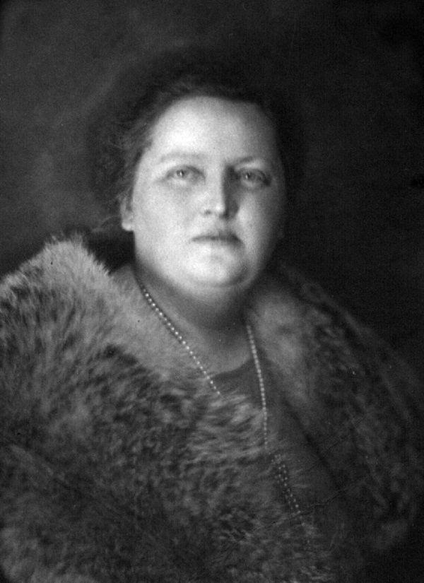 Maria Wojciechowska, żona Prezydenta RP Stanisława Wojciechowskiego (fot. domena publiczna).