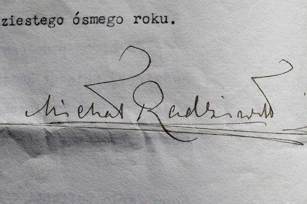 Autograf Michała Radziwiłła. Najczęściej składał go w dwóch sytuacjach: zadłużając się lub podpisując wnioski o rozwód.