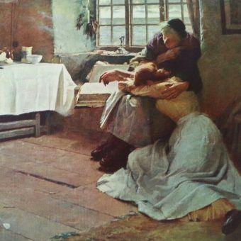 """Gdy niektórzy Czytelnicy ujawniają swoje poglądy na świat, naprawdę nie ma z czego się śmiać... Na ilustracji fragment obrazu Franka Bramleya """"Beznadziejny świt""""."""