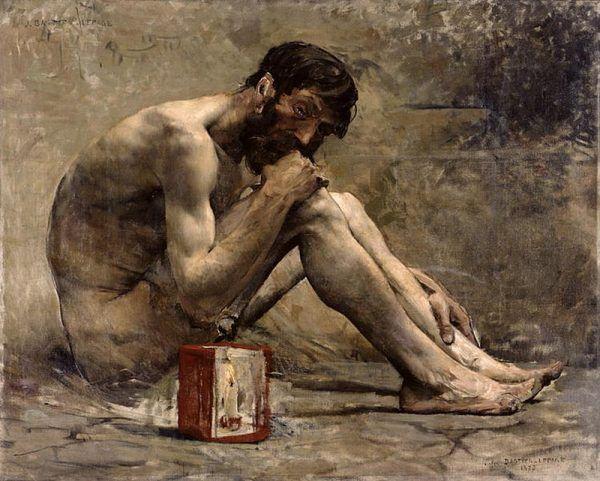 """Diogenes (na obrazie Julesa Bastien-Lepage, 1873) był greckim filozofem, który stał się jednym z najpopularniejszych postaci starożytności. Domagał się nie tylko zniesienia małżeństwa, ale i głosił tzw. bezwstyd, w myśl którego """"to, co robią wszyscy, można robić publicznie""""."""