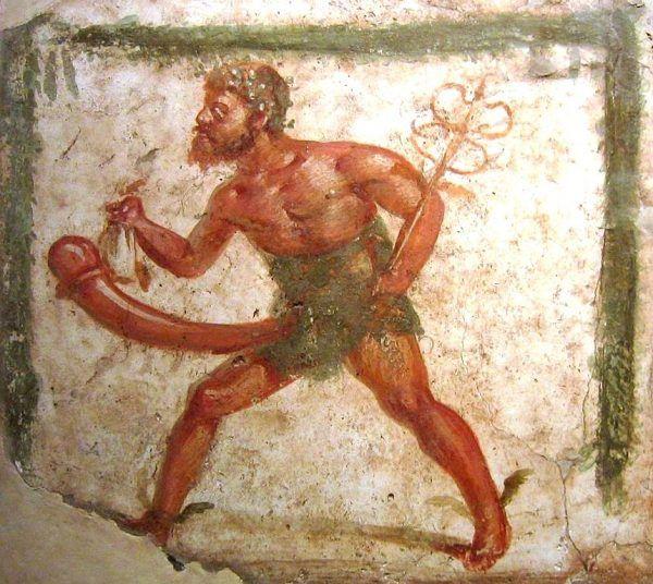 Rzymskim bóstwem związanym z płodnością był Mutunus Tutunus (prawdopodobne wyobrażenie na ilustracji - fragment pompejskiego fresku). Historycy podejrzewają, że jego sanktuarium znajdowało się na wzgórzu Welia wraz z posągiem boga-fallusa. Ponoć panny młode w dniu ślubu siadały na jego wizerunku, aby ofiarować mu swoje dziewictwo...