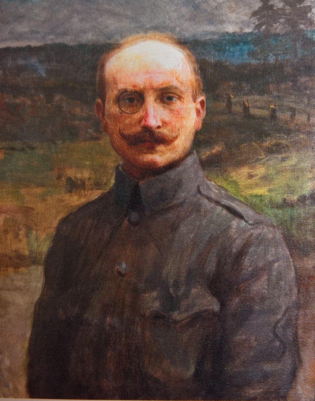 Adolf Sternschuss na portrecie pędzla Teodora Axentowicza.
