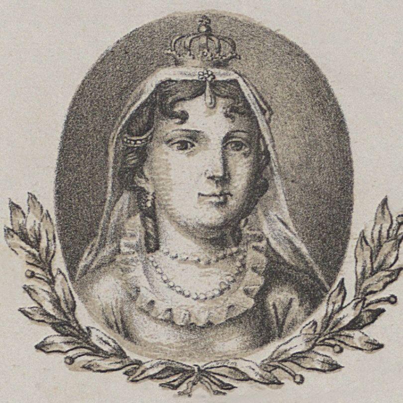 Aldona Anna na portrecie wedłu wzoru Michała Stachowicza