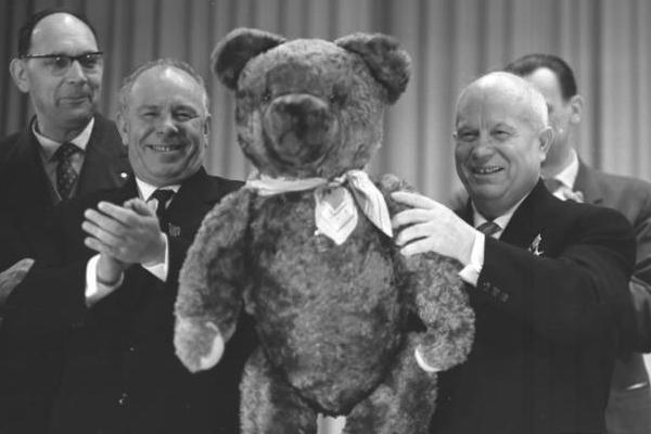 Nikita Chruszczow podczas jednej z wizyt zagranicznych