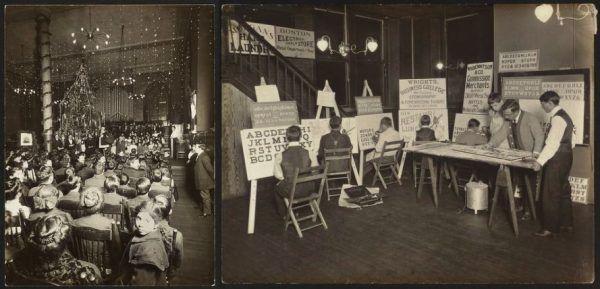 Children's Aid Society było prywatną organizacją non-profit zajmującą się dobroczynnością w Nowym Jorku. Założona w 1853 roku kształciła zarówno dziewczynki, jak i chłopców. Prócz opieki adopcyjnej, zapewniała także programy szkoleniowe w kierunku konkretnych zawodów.