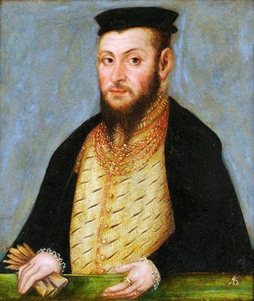 Portret Zygmunta Augusta ok. 1553 roku. Autor: Lucas Cranach the Younger