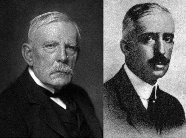 """Wybryki księcia """"Rudego"""" przelały szalę goryczy w magnackiej rodzinie. W końcu postanowiono położyć kres skandalom, ubezwłasnowalniając Michała Radziwiłła. Na zdjęciu po lewej ojciec """"Rudego"""", Ferdynand; po prawej - brat Janusz."""