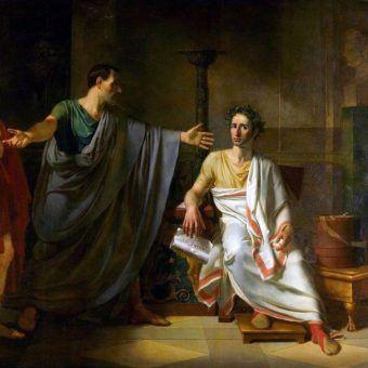Młodziutki Juliusz Cezar był ponoć wyjątkowo urodziwym arystokratą. Tak bardzo, że łamał tak męskie, jak i niewieście serca. Plotki o słynnym wodzu były znane w niemal całym ówczesnym Rzymie. Na ilustracji fragment dziewiętnastowiecznego obrazu Abla de Pujola.