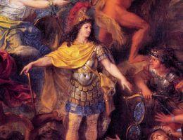 Ludwik XIV na portrecie Charlesa le Bruna.