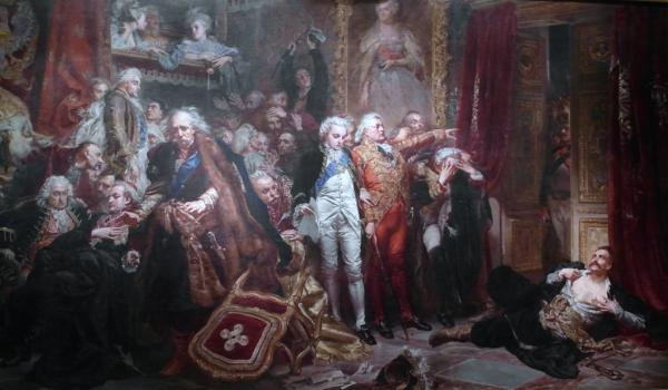 Sejm rozbiorowy 1773-1775 powołany został przez trzy mocarstwa zaborcze w celu zatwierdzenia cesji terytorium RP w czasie jej I rozbioru. Michał Hieronim Radziwiłł reprezentował na nim przeciwną postawę niż, utrwalony na obrazie Jana Matejki, Rejtan.