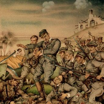Śmierć Bronisława Mansperla w bitwie pod Kuklami.