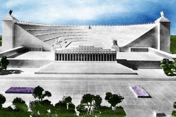Makieta Deutsche Stadion, który po ukończeniu miał pomieścić pół miliona osób.
