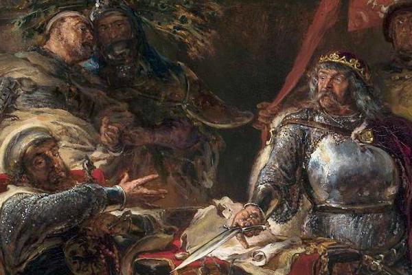 Łokietek zrywa układ z Krzyżakami w Brześciu Kujawskim pędzla Jana Matejki