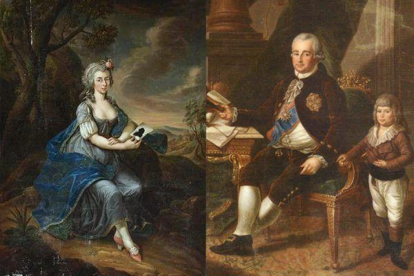 Rzadko zdarzało się, aby to żony zostawiały Radziwiłłów. Częściej to oni zmieniali małżonki jak rękawiczki lub utrzymywali swoje kochanki. Niemieckiej księżniczce Zofii (na ilustracji po lewej) Hieronim jednak nie wystarczał (po prawej).