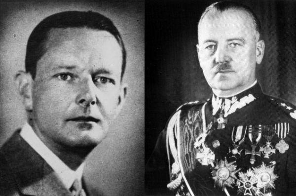 Zarówno minister spraw zagranicznych Edward Raczyński (z lewej), jak i premier Władysław Sikorski (z prawej), niewiele wskórali w trakcie spotkań z prezydentem USA.