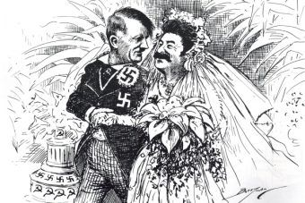 Hitler ożenił się dopiero w 1945 roku? Nie według rysunku satyrycznego z 1939 roku…