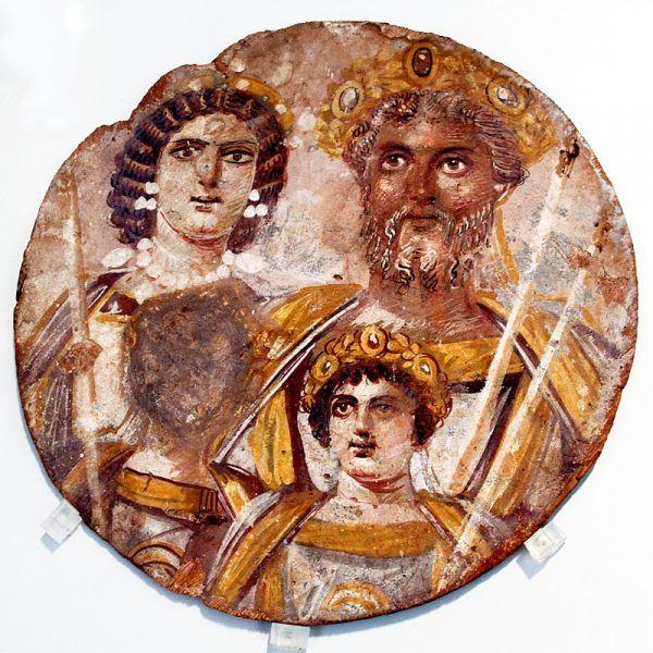 Karakalla był jednym z rzymskich cesarzy, który wydał specjalny dekret przeciw aborcji. Na ilustracji fragment fresku przedstawiającego Julię Domnę, Septymiusza Sewera i Karakallę.