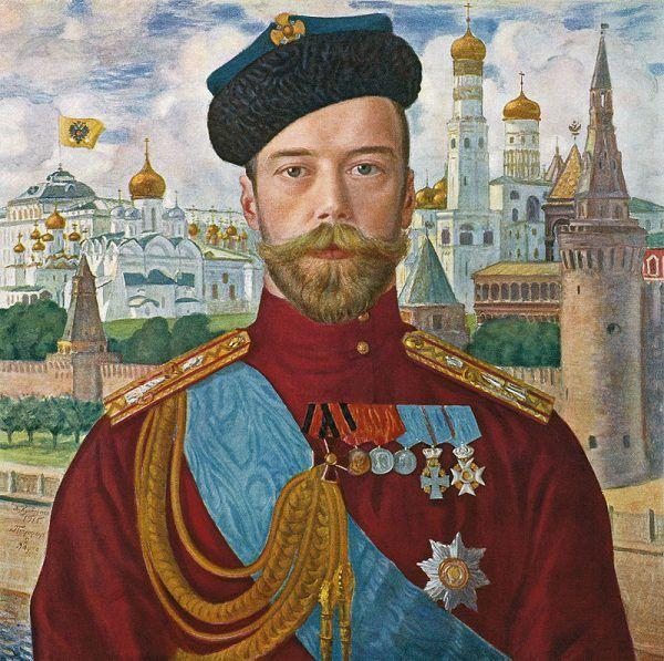 Car Mikołaj II szybko uwierzył w nadzwyczajne zdolności Rasputina. Tak stał się on carskim faworytem. Na ilustracji portret cara pędzla Borysa Kustodijewa.