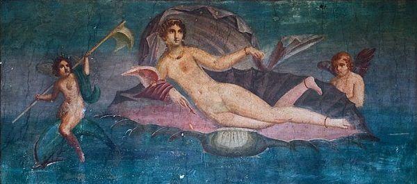 Do kogo zwrócić się z prośbą o szczęście w miłości, jak nie do bogini czuwającej nad zakochanymi? Na ilustracji fragment antycznego fresku odkrytego w Pompejach, przedstawiającego Afrodytę.