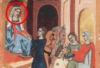Drahomira zleca zamordowanie Ludmiły. Ilustracja z XIV-wiecznej Kroniki Dalimila